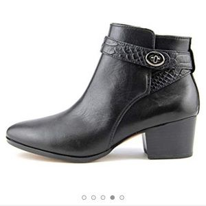 Coach Black Leather Patricia Ankle Booties EUC 8.5